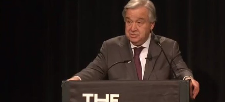 "UN Secretary-General gives a powerful speech on ""Women and Power"" at the New School"