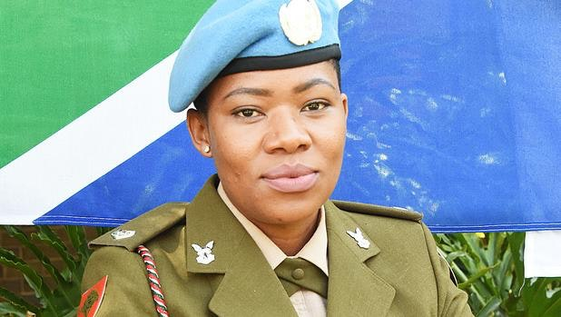 UN peacekeeper from South Africa awarded United Nations' Military Gender Advocate of the Year