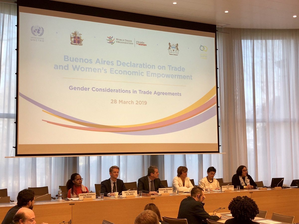 2017 Buenos Aires Declaration on Trade and Women's Economic Empowerment should take credit for shift in attitudes
