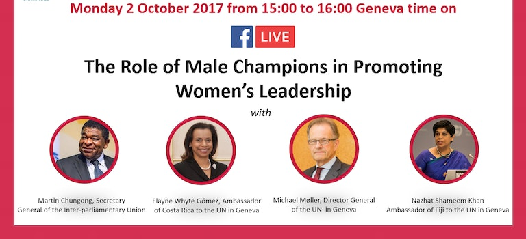 Facebook Live Discussion on Male Champions for Women's Leadership