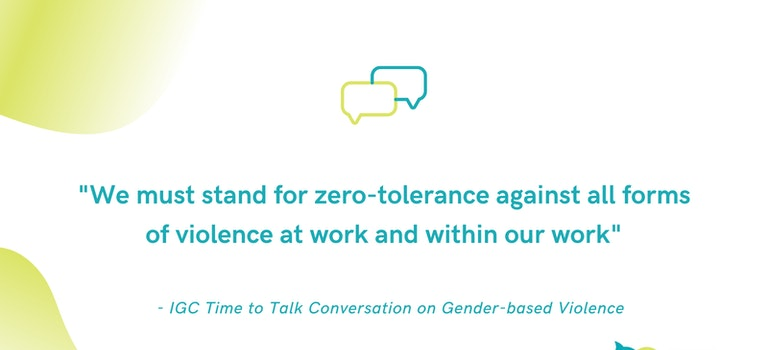 Champions identify need for continuous and collective action to prevent Gender-based Violence