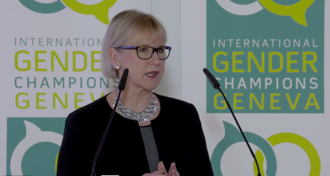 "Foreign Minister Margot Wallström on ""What difference does a feminist policy make?"""