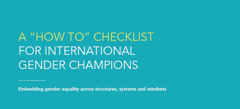 'How To': A Checklist for International Gender Champions