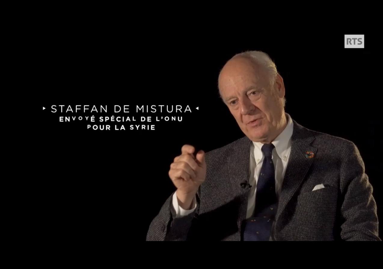 Staffan de Mistura s'engage pour la participation des femmes syriennes dans les négocations pour la paix en Syrie - VIDEO