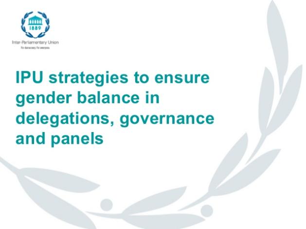 IPU Strategies to ensure gender balance in delegations