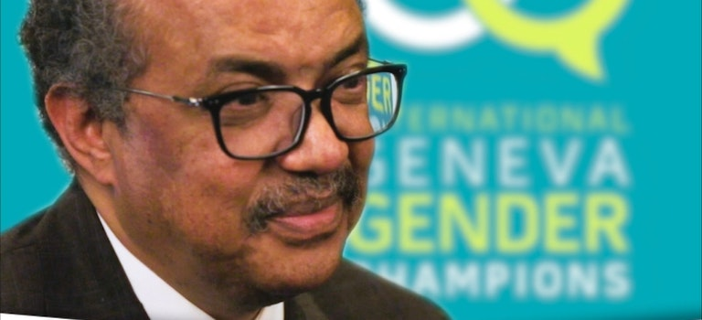 Gender Champion Dr Tedros supports Harass Free Assemblies at the WHA