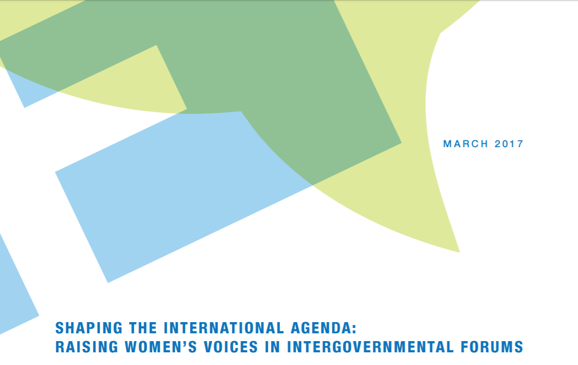 Shaping the International Agenda: Raising Women's Voices in Intergovernmental Forums
