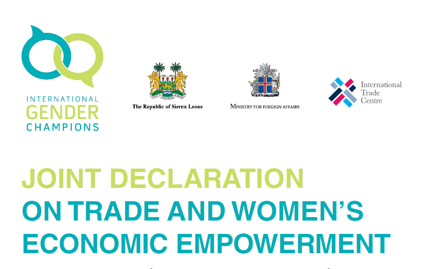 Joint Declaration on Women and Trade: A Milestone towards the Economic Empowerment of Women